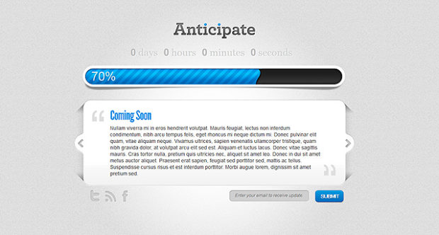 Anticipate v1.7.1 до готовности сайта