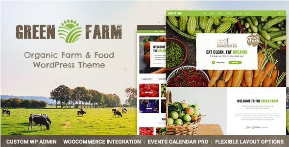Органическая продовольственная ферма и эко-магазин WordPress