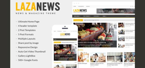 LazaNews v1.0.0 для новостей, газет, журналов