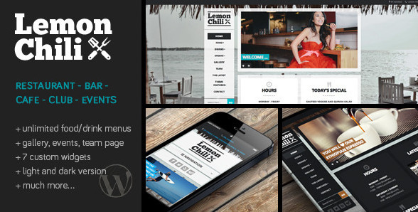 LemonChili v3.0 - сайт для ресторана, бара, клуба