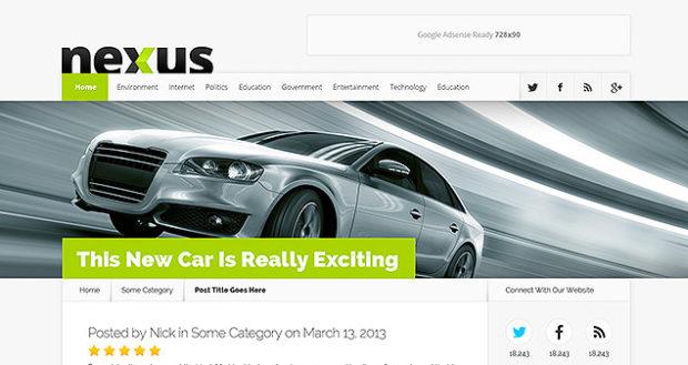 Nexus v1.7.6 - универсальная тема журнала