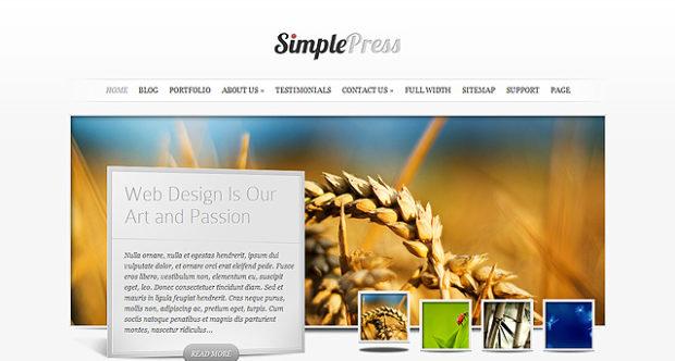 SimplePress v5.5.6 бизнес-ориентированная тема