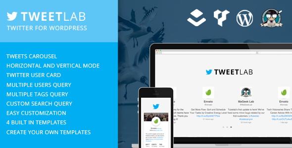 Tweetlab v2.0.2 слайдер Твиттер