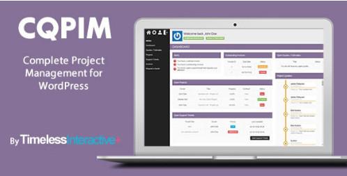 CQPIM v3.0.1 Плагин управления проектами на WordPress