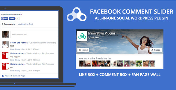 Facebook слайдер v1.8.5 комментариев для WordPress