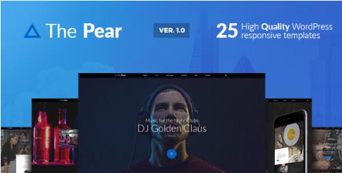 Pear - отзывчивая многоцелевая тема WordPress