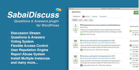 Sabai Discuss v1.3.41 - Плагин обсуждений для WordPress