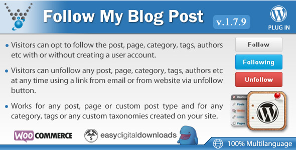 Следуйте за моим блогом v1.7.9 Follow