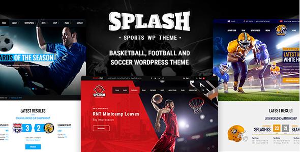 Splash v3.3 Спортивная тема WordPress для футбола, баскетбола, бейсбола, спортивного клуба